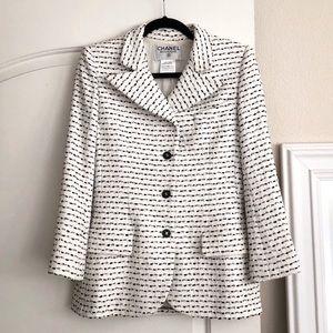 🖤 CHANEL Tweed Pristine Vintage Jacket Coat 38